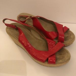 Boden wedge sandals red size 39